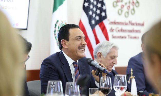 Omar Fayad asiste a reunión de gobernadores con Olga Sánchez Cordero