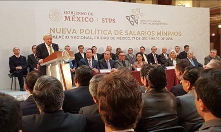 En 2019, salario mínimo será de 102.68 pesos