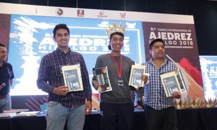 Juan Obregón, campeón del Torneo Internacional de Ajedrez Hidalgo 2018