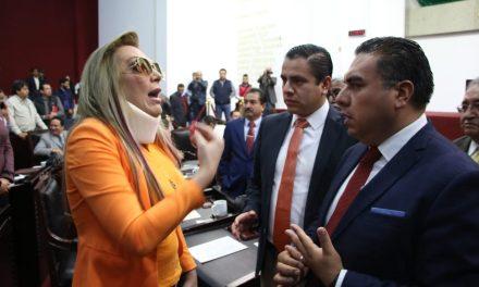 Diana Bayardo irrumpe en sesión del Congreso