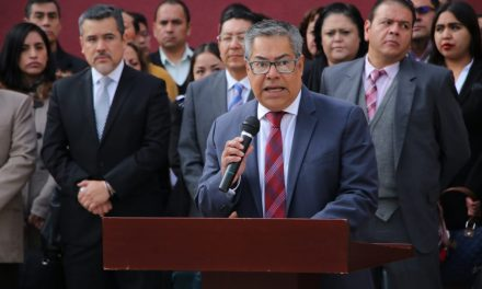 Jueces de Hidalgo se manifiestan en contra de iniciativa de reducción de salarios