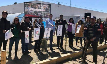 Inicia obra en el acceso en el corredor Industrial de Tepeapulco