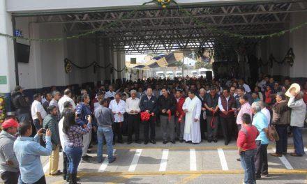 Inauguran base de colectivas en Tulancingo