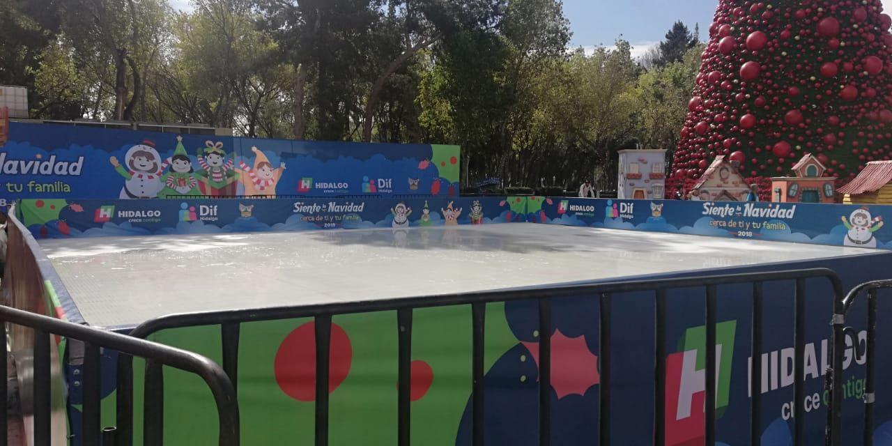 Pista de hielo estará en Plaza Juárez hasta el 6 de enero