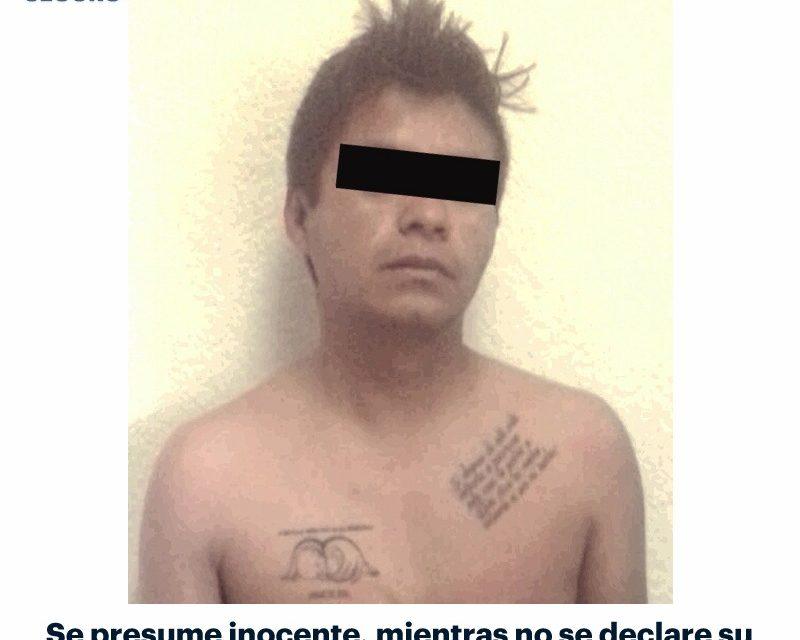 Detienen a sujeto por presunto robo a domicilio en Zempoala