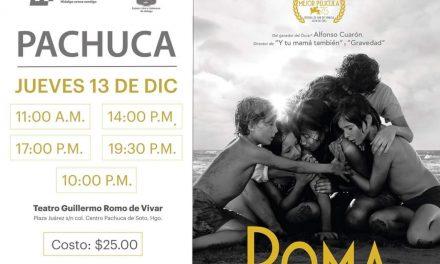 «Roma» llega al teatro Guillermo Romo de Vivar de Pachuca