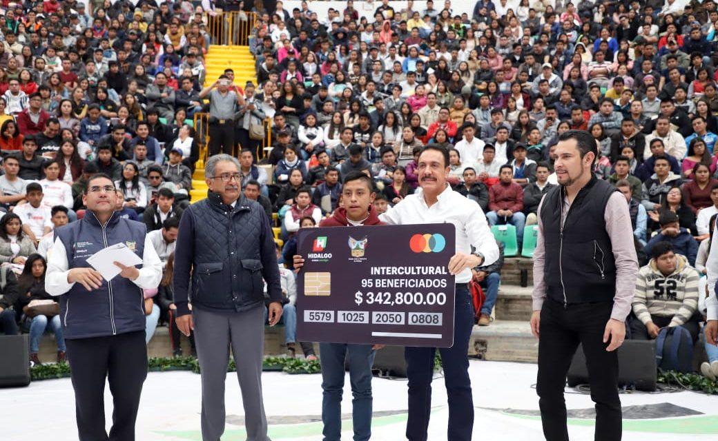 37 mil jóvenes de Hidalgo cuentan con beca escolar
