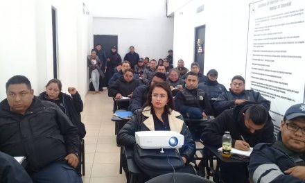 CDHEH capacita a policías de Tizayuca respecto a sus funciones y obligaciones