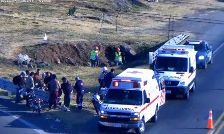 Dos lesionados tras accidente en moto en la México-Tuxpan