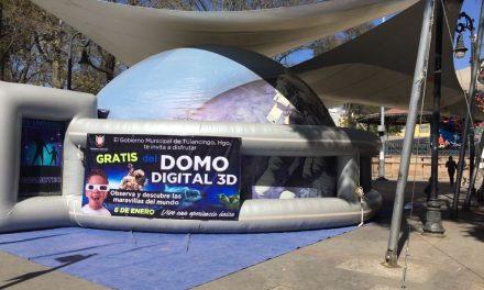 Instalaron Domo Interactivo 3D en Tulancingo para festejar Día de Reyes