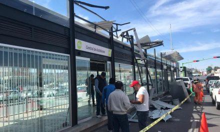 Estación impactada por tráiler se podrá inaugurar en febrero
