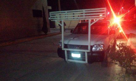 Recuperan camioneta robada en la Plutarco