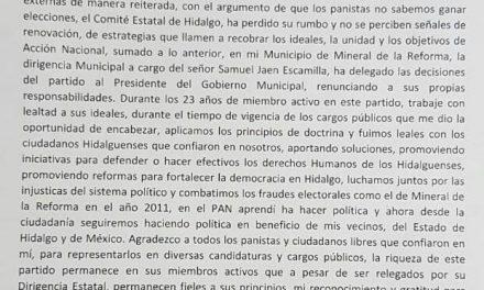 Luis Baños renuncia a su militancia en el PAN