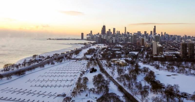 Chicago se congela, registra -53°C