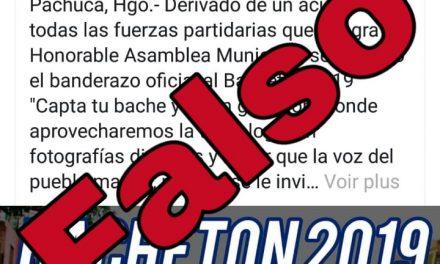 Falso que la alcaldía de Pachuca lanzó el «Bachetón»