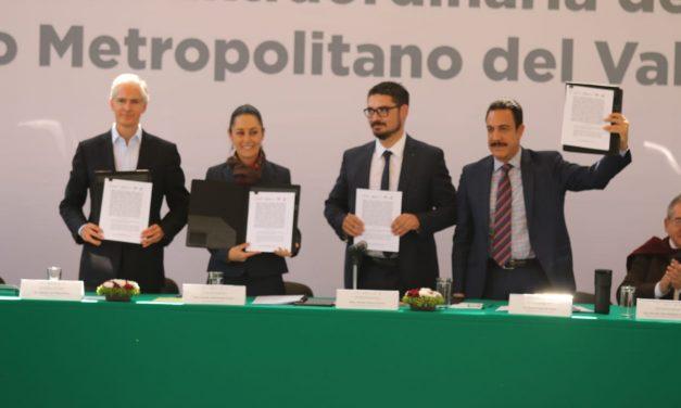 Firman acuerdo para el desarrollo del Valle de México