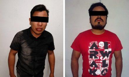 Asegura SSPH a dos individuos por presunto asalto en Pachuca