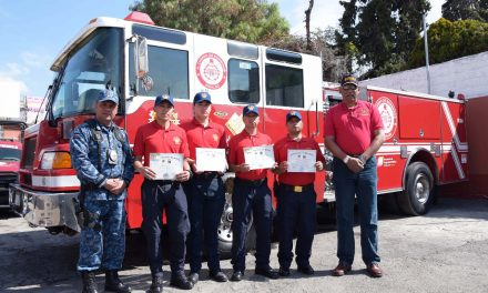 Bomberos de Hidalgo reciben certificación por la Asociación de Bomberos de Texas