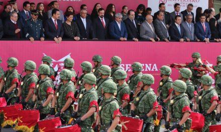 Participaron más de mil elementos en el desfile conmemorativo de la creación de Hidalgo