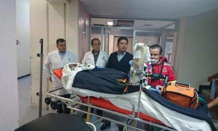 Trasladan a heridos de Tlahuelilpan al Centro de Atención al Paciente Quemado