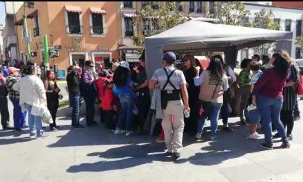 Instalan módulos de registro para programas federales en Pachuca