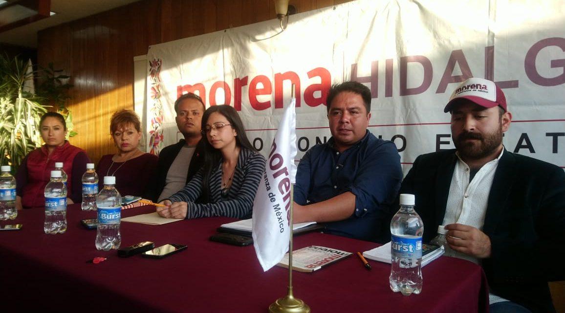 Morena acusa inequidad financiera para partidos políticos en Hidalgo