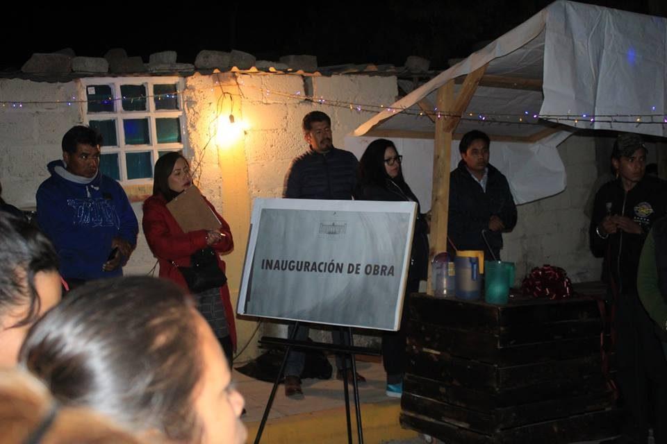 Inauguran pavimentación hidráulica en Villa de Tezontepec