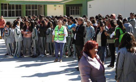 PC Tolcayuca supervisa brigadas escolares en planteles educativos