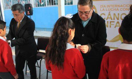 Conmemoran Día Internacional contra el Cáncer Infantil en Villa de Tezontepec