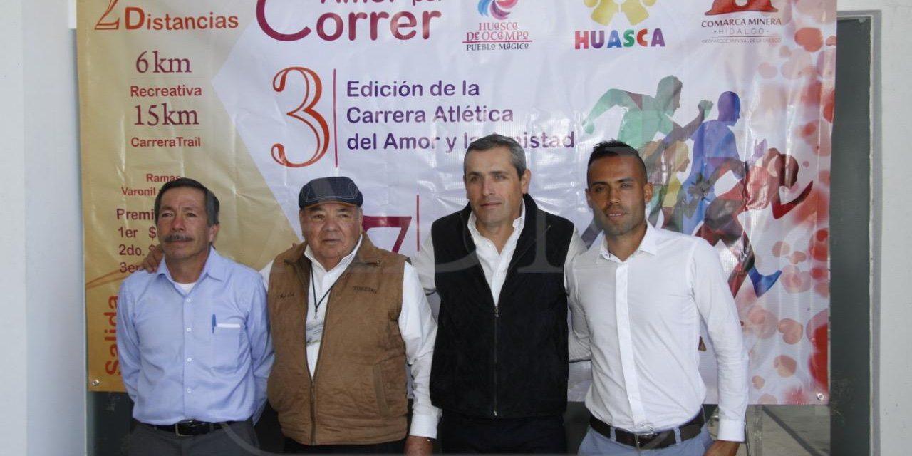 Anuncian carrera atlética «Amor por correr» en Huasca