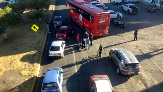 Accidente en bulevar Nuevo Hidalgo deja un lesionado