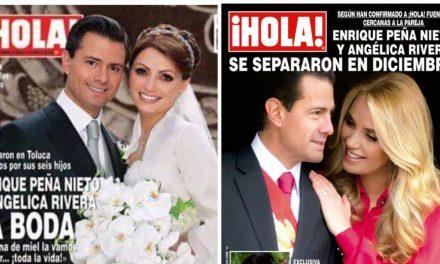 Enrique Peña y Angélica Rivera se habrían separado en diciembre