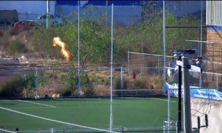 Flama por fuga de gas alertó a vecinos de El Tezontle