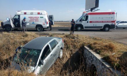 Dos lesionados en accidente en la México-Pachuca