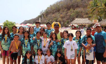 12 medallas para Hidalgo en Maratón de Aguas Abiertas en Huatulco