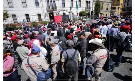 Estalla huelga en el ayuntamiento de Pachuca