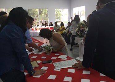 Realizan Matrimonios colectivos en Villa de Tezontepec