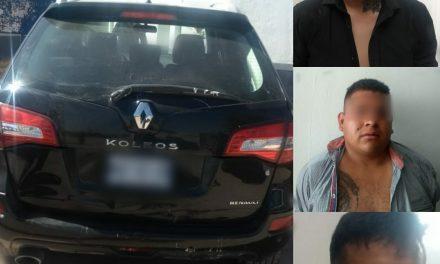 Policía Municipal de Tizayuca captura a 3 por intento de secuestro