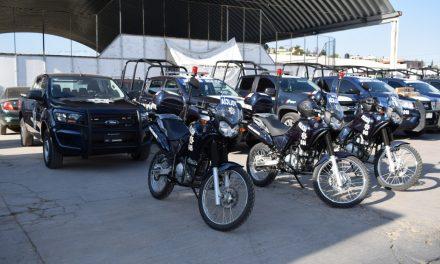 Entregan patrullas a Seguridad Pública de Santiago Tulantepec