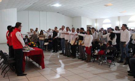 Rinden protesta delegados y subdelegados de Santiago Tulantepec