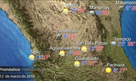 En Pachuca se espera una temperatura máxima de 27 grados