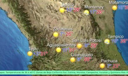 Prevalecerá clima cálido con posibilidad de lluvia por la tarde