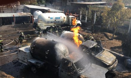 Al menos seis lesionados deja explosión de pipa en Milpa Alta