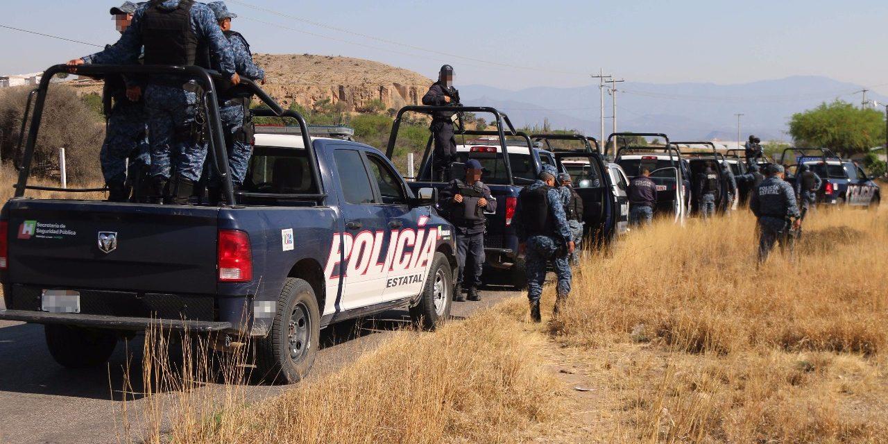 recupera Policía Estatal 8 vehículos en región Huichapan