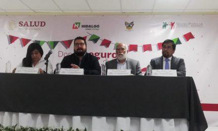 Van por 530 mil afiliaciones al Seguro Popular en Hidalgo