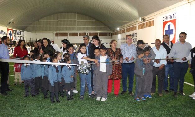 Inauguran Canchas de Fútbol Rápido en Villa de Tezontepec