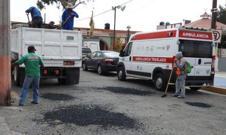 Arranca novena campaña de bacheo en Tolcayuca