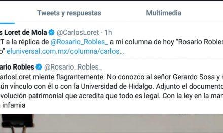 Rosario Robles niega estar ligada a presunto lavado de dinero de la UAEH
