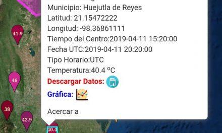 Temperatura en Huejutla rebasó los 40 grados