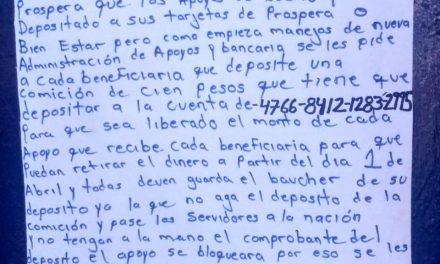 Alertan por presunta extorsión a beneficiarios de PROSPERA en Tulancingo